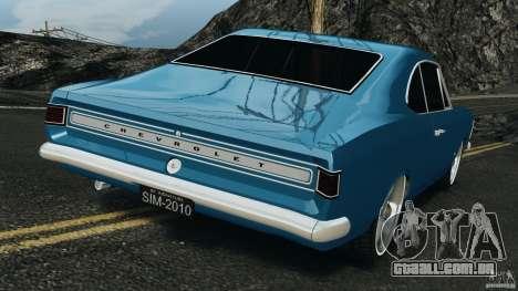 Chevrolet Opala Gran Luxo para GTA 4 traseira esquerda vista