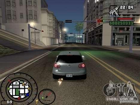 Fogo dos escapamentos v 2.0 para GTA San Andreas por diante tela