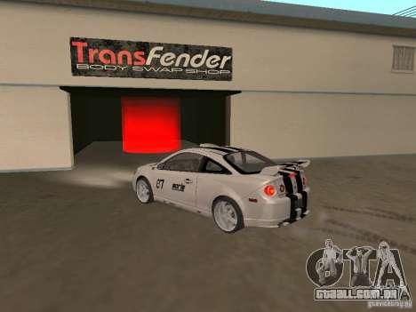 Chevrolet Cobalt Tuning para GTA San Andreas esquerda vista