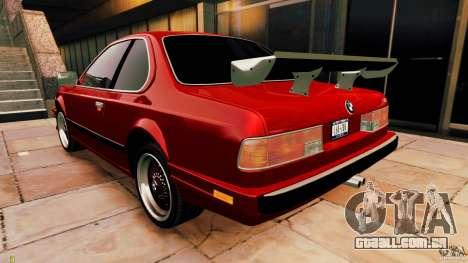 BMW M6 1985 Tuning Final para GTA 4 vista direita