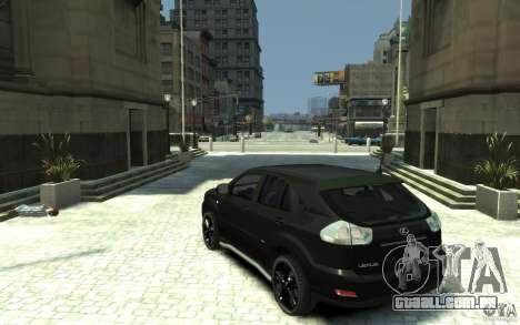 Lexus RX 400h para GTA 4 traseira esquerda vista