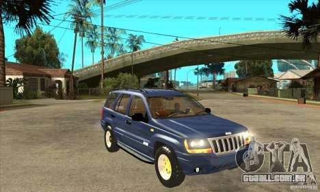 Jeep Grand Cherokee 2005 para GTA San Andreas vista traseira