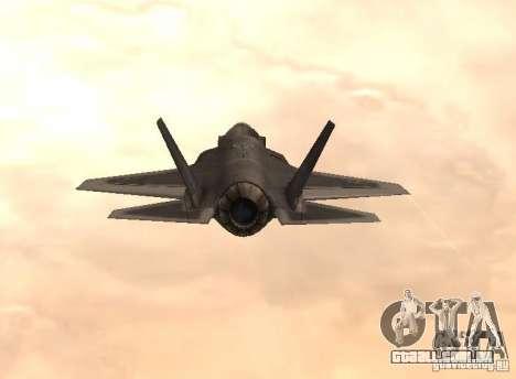 F-35 Eagle para GTA San Andreas esquerda vista