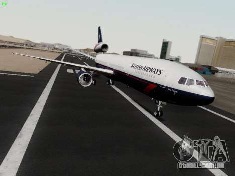 McDonell Douglas DC-10-30 British Airways para GTA San Andreas esquerda vista