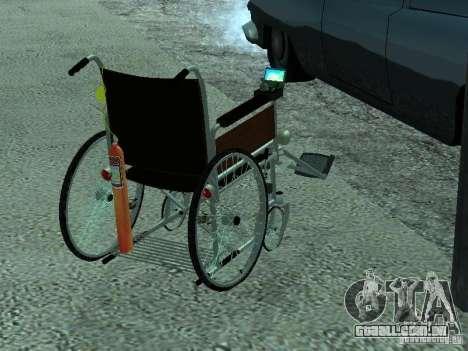 Cadeira de rodas manual para GTA San Andreas esquerda vista