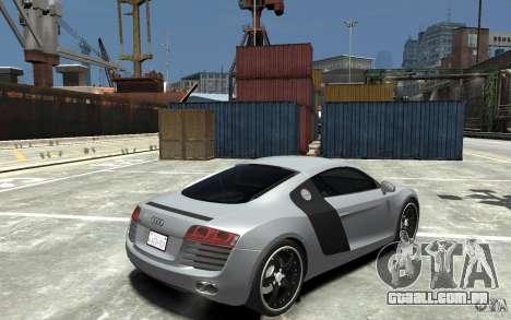 Audi R8 2008 para GTA 4 vista direita