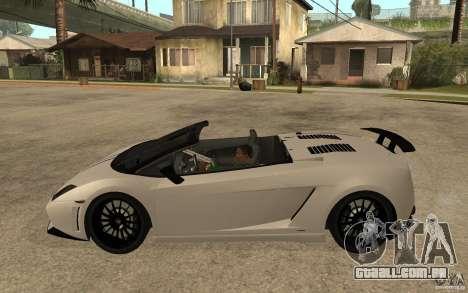 Lamborghini Gallardo LP570-4 para GTA San Andreas esquerda vista