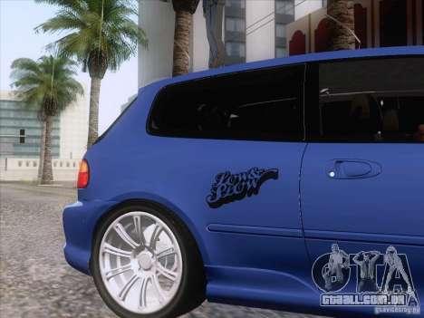 Honda Civic IV GTI para GTA San Andreas vista traseira