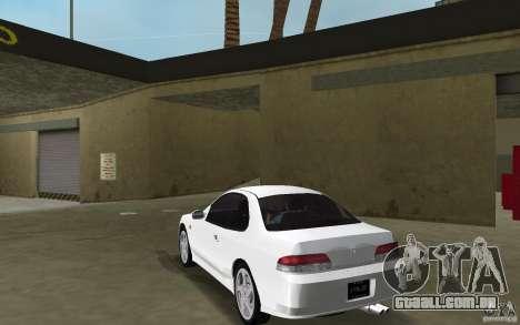 Honda Prelude 2.2i para GTA Vice City vista traseira esquerda