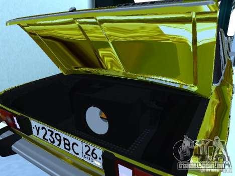 VAZ 2106 (ouro) para GTA San Andreas vista direita
