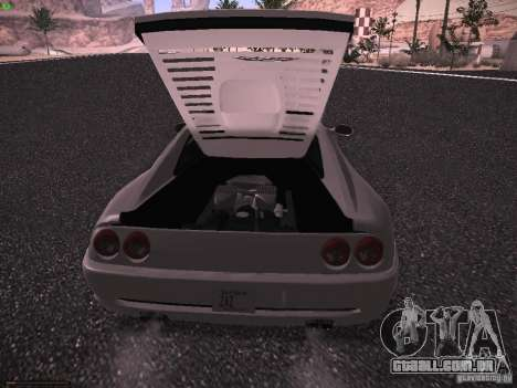 Ferrari F355 Targa para GTA San Andreas vista traseira