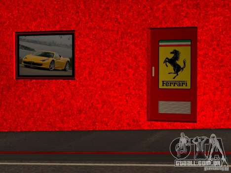 Novo Showroom da Ferrari em San Fierro para GTA San Andreas sexta tela