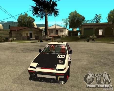 Yoshikazu AE86 para GTA San Andreas vista traseira