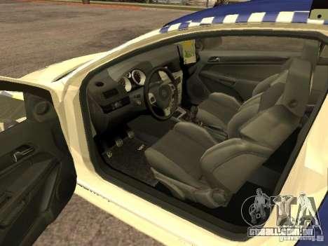 Opel Astra 2007 Police para GTA San Andreas traseira esquerda vista