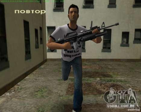 M-16 de Scarface para GTA Vice City quinto tela