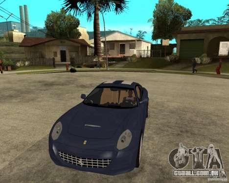 Ferrari 612 Kappa para GTA San Andreas vista traseira