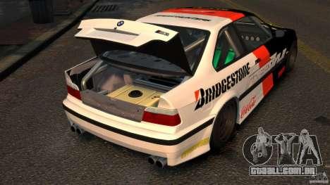BMW M3 E36 FSC para GTA 4 vista de volta