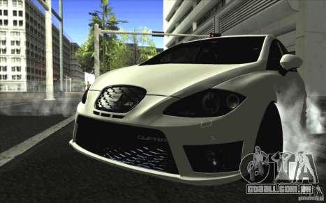 Seat Leon Cupra R para GTA San Andreas esquerda vista