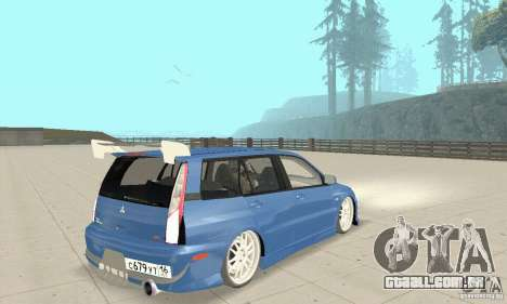 Mitsubishi Lancer Evolution IX Wagon MR Drift para GTA San Andreas esquerda vista