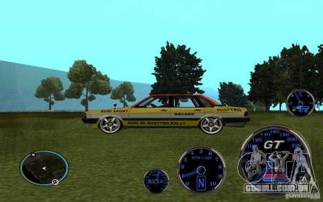 Audi 80 Quattro Rally para GTA San Andreas vista direita