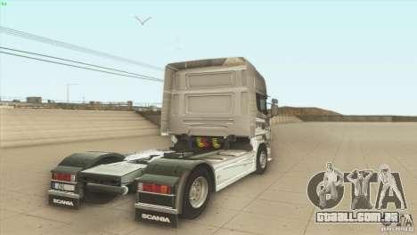 Scania V8 para GTA San Andreas traseira esquerda vista