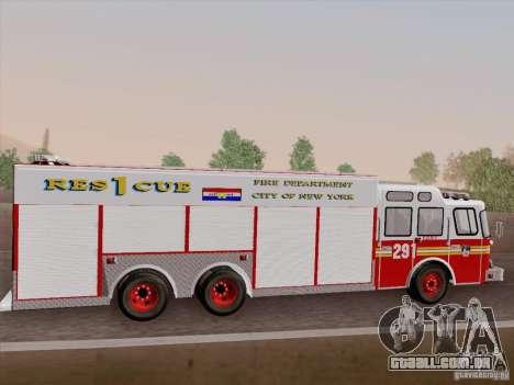 E-One F.D.N.Y Fire Rescue 1 para GTA San Andreas vista superior