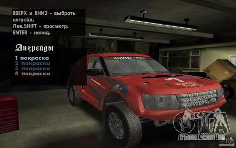 Bowler Nemesis para GTA San Andreas vista superior