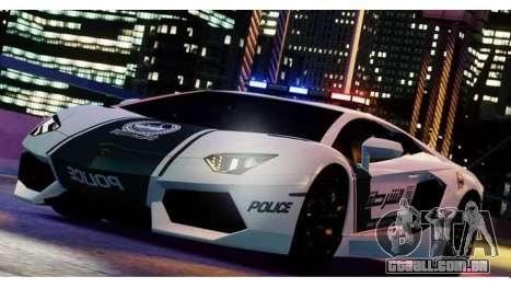 Lamborghini Aventador LP700-4 Dubai Police v1.0 para GTA 4 esquerda vista
