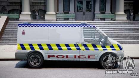 Ford Transit Polish Police [ELS] para GTA 4 vista de volta