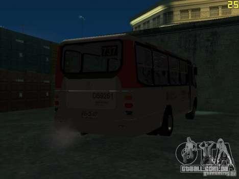 Marcopolo G6 para GTA San Andreas vista traseira