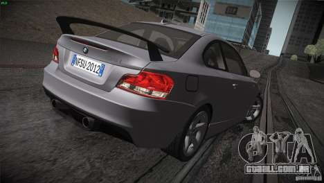 BMW 135i Coupe Road Edition para GTA San Andreas vista superior