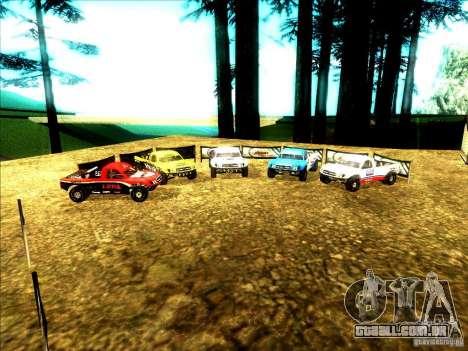 Toyota Tundra Rally para GTA San Andreas vista inferior