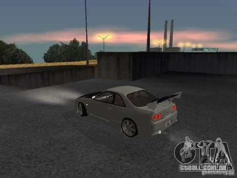 Nissan Skyline R33 SGM para GTA San Andreas traseira esquerda vista