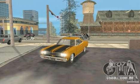 Plymouth Roadrunner 383 para GTA San Andreas traseira esquerda vista