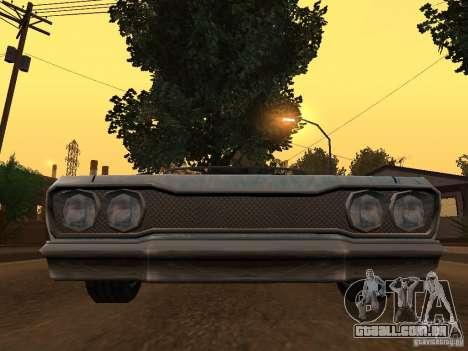 Novo trabalho de pintura savana-novo para GTA San Andreas traseira esquerda vista