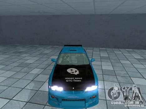 Nissan Skyline R 33 GT-R para GTA San Andreas vista interior
