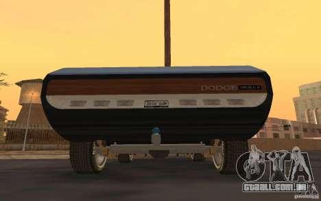 Dodge Deora Concept 1965-1967 para GTA San Andreas traseira esquerda vista