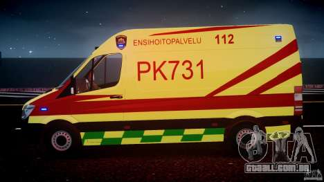 Mercedes-Benz Sprinter PK731 Ambulance [ELS] para GTA 4 motor