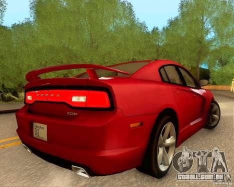 Dodge Charger SRT8 2012 para GTA San Andreas interior