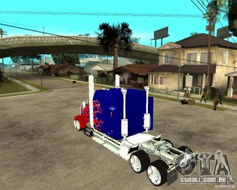 Truck Optimus Prime para GTA San Andreas esquerda vista