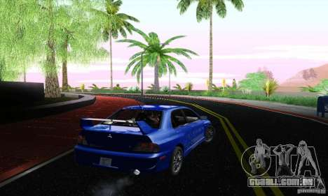 Mitsubishi Lancer Evolution 9 MR Edition para GTA San Andreas esquerda vista