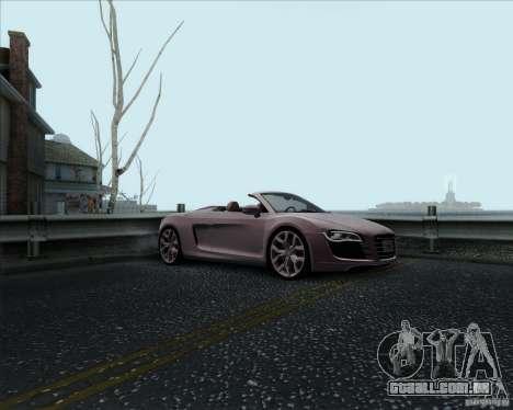 Audi R8 Spyder para vista lateral GTA San Andreas