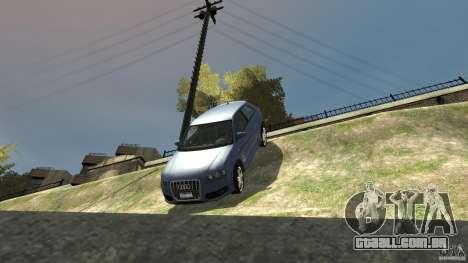 Audi S3 2006 v 1.1 não é tonirovanaâ para GTA 4 vista inferior