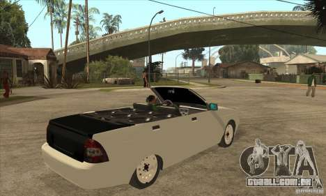 VAZ LADA Priora conversível para GTA San Andreas vista direita