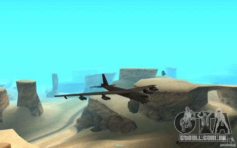 Boeing B-52 Stratofortress para GTA San Andreas vista traseira