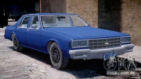 Chevrolet Impala 1983 [Final] para GTA 4 vista lateral