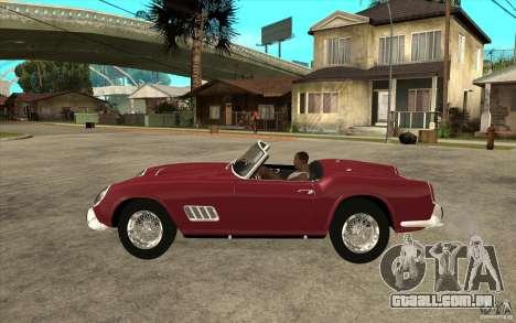 Ferrari 250 California 1957 para GTA San Andreas esquerda vista