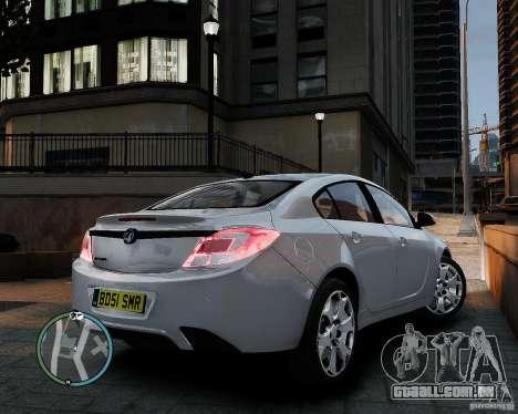 Vauxhall Insignia v1.0 para GTA 4 vista de volta