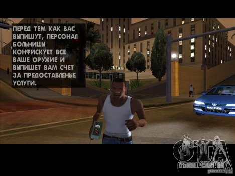 O detonador para GTA San Andreas por diante tela