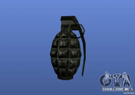 Grenade para GTA 4 por diante tela